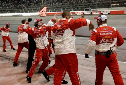 Kevin Harvick's team celebrates